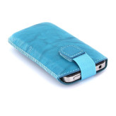 Mobiparts Uni Pouch SMOKE Size L Turquoise