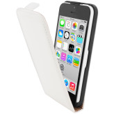 Mobiparts Premium Flip Case Apple iPhone 5C White