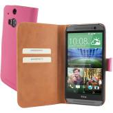 Mobiparts Premium Wallet Case HTC One (M8) / M8s Pink