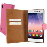 Mobiparts Premium Wallet Case Huawei Ascend P7 Pink