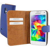 Mobiparts Premium Wallet Case Samsung Galaxy S5 Mini Blue