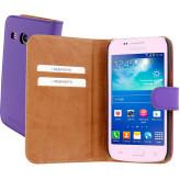 Mobiparts Premium Wallet Case Samsung Galaxy Core Plus Purple