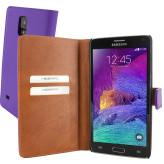 Mobiparts Premium Wallet Case Samsung Galaxy Note 4 Purple
