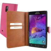 Mobiparts Premium Wallet Case Samsung Galaxy Note 4 Pink