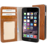 Mobiparts Excellent Wallet Case Apple iPhone 6/6S Oaked Cognac