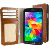 Mobiparts Excellent Wallet Case Samsung Galaxy S5 / S5+ Oaked Cognac