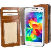 Mobiparts Excellent Wallet Case Samsung Galaxy S5 Mini Oaked Cognac