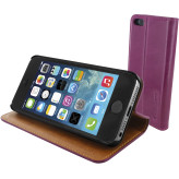 Mobiparts Luxury Book Case Apple iPhone 5/5S/SE Ruby Pink