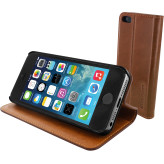Mobiparts Luxury Book Case Apple iPhone 5/5S/SE Chic Brown