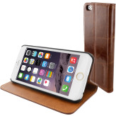 Mobiparts Luxury Book Case Apple iPhone 6/6S Chic Brown