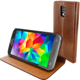 Mobiparts Luxury Book Case Samsung Galaxy S5 / S5+ / S5 Neo Chic Brown
