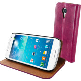Mobiparts Luxury Book Case Samsung Galaxy S4 Mini Ruby Pink