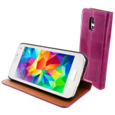 Mobiparts Luxury Book Case Samsung Galaxy S5 Mini Ruby Pink