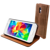 Mobiparts Luxury Book Case Samsung Galaxy S5 Mini Chic Brown