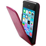 Mobiparts Luxury Flip Case Apple iPhone 4/4S Ruby Pink