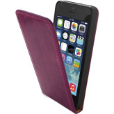 Mobiparts Luxury Flip Case Apple iPhone 5/5S/SE Ruby Pink