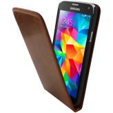 Mobiparts Luxury Flip Case Samsung Galaxy S5 / S5+ / S5 Neo Chic Brown