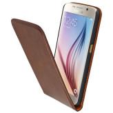 Mobiparts Luxury Flip Case Samsung Galaxy S6 Chic Brown