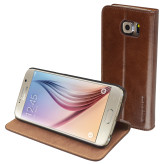 Mobiparts Luxury Book Case Samsung Galaxy S6 Chic Brown
