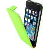 Mobiparts Premium Flip Case Apple iPhone 5/5S/SE Green