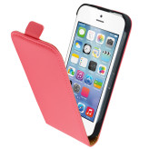 Mobiparts Premium Flip Case Apple iPhone 5/5S/SE Peach Pink