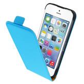 Mobiparts Premium Flip Case Apple iPhone 5/5S/SE Light Blue