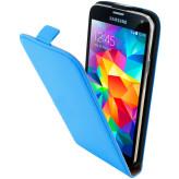 Mobiparts Premium Flip Case Samsung Galaxy S5 / S5+ / S5 Neo Light Blue