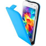 Mobiparts Premium Flip Case Samsung Galaxy S5 Mini Light Blue