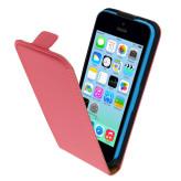 Mobiparts Premium Flip Case Apple iPhone 5C Peach Pink