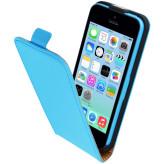 Mobiparts Premium Flip Case Apple iPhone 5C Light Blue