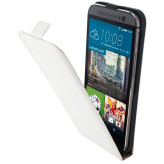 Mobiparts Premium Flip Case HTC One M9 White