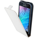 Mobiparts Premium Flip Case Samsung Galaxy J1 White