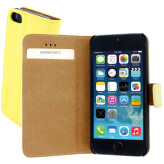 Mobiparts Premium Wallet Case Apple iPhone 5/5S/SE Yellow