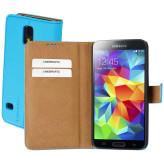 Mobiparts Premium Wallet Case Samsung Galaxy S5 / S5+ / S5 Neo Light Blue