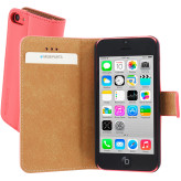 Mobiparts Premium Wallet Case Apple iPhone 5C Peach Pink