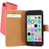 Mobiparts Premium Wallet Case Apple iPhone 5C Peach Pink