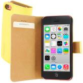 Mobiparts Premium Wallet Case Apple iPhone 5C Yellow