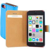 Mobiparts Premium Wallet Case Apple iPhone 5C Light Blue