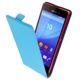 Mobiparts Premium Flip Case Sony Xperia M4 Aqua Light Blue