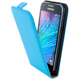 Mobiparts Premium Flip Case Samsung Galaxy J1 Light Blue