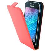 Mobiparts Premium Flip Case Samsung Galaxy J1 Peach Pink