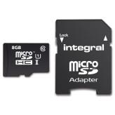 Integral MicroSD 8GB + Adapter (40MB/s Class 10)