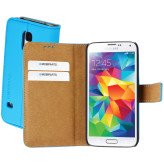 Mobiparts Premium Wallet Case Samsung Galaxy S5 Mini Light Blue