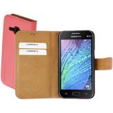 Mobiparts Premium Wallet Case Samsung Galaxy J1 Peach Pink