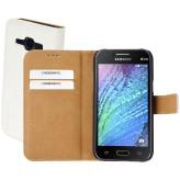 Mobiparts Premium Wallet Case Samsung Galaxy J1 White