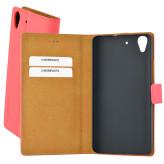 Mobiparts Premium Wallet Case Huawei Y6 Peach Pink