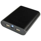 Mobiparts Portable Power + Flashlight 10.000 mAh Black