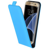 Mobiparts Premium Flip Case Samsung Galaxy S7 Light Blue