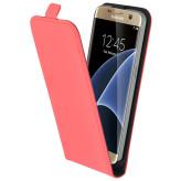 Mobiparts Premium Flip Case Samsung Galaxy S7 Peach Pink