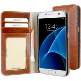 Mobiparts Excellent Wallet Case Samsung Galaxy S7 Oaked Cognac